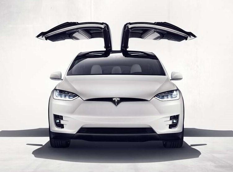 Tesla portes ouvrantes Falcon papillon