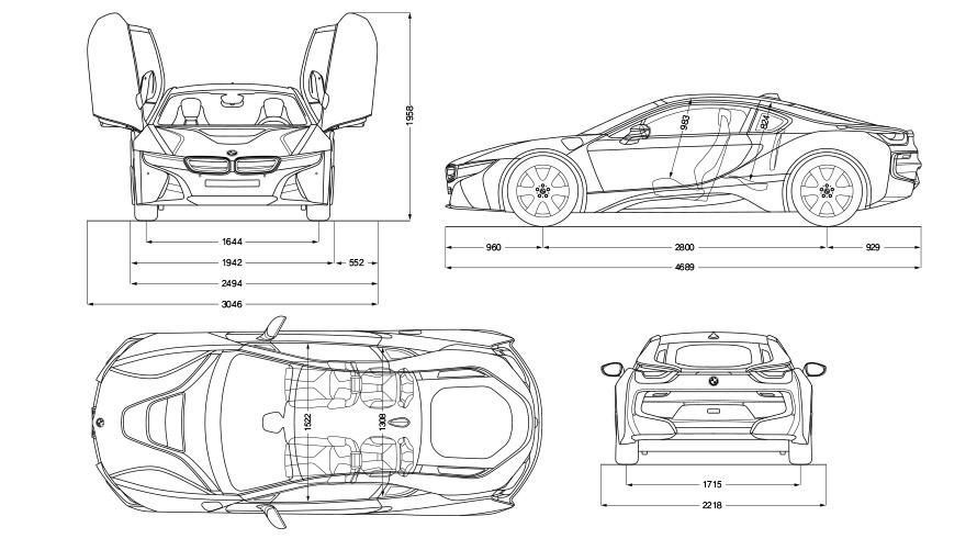 Dimensions BMW i8